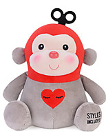 Metoo Microphone Rabbit Plush Toy Monkey  Sunpoo Monkey Mascot Creative Birthday Gift Of Love 10.5 Inches Red