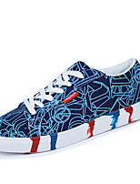 Men's Shoes Outdoor Canvas Fashion Sneakers Black / Blue / Green