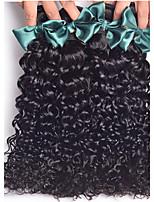 4 paquetes de productos para el cabello rosa brasileño virginal del pelo ensortijado pelo virginal rizada rizada onda del pelo humano