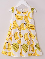 Girl's Yellow Dress,Floral Cotton Summer