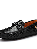 Men's Shoes Casual Leather Loafers Black / Brown / White / Navy