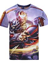 3D T-shirt WangZheRongYao Game Goku Clothing Short Sleeve