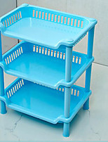 Desktop Three Layer Square Rack Plastic Kitchen Bathroom Rack Storage Rack