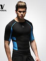 Homme Course Hauts/Tops Course Séchage rapide / Compression / mèche Vert / Bleu Autres Vêtements de sport