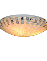 16 inch Retro Tiffany Ceiling Lamp /Shell Shade Flush Mount Living Room Dining Room light Fixture
