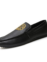 Men's  Versace Genuine Leather Slip on Loafers Driving Shoes Men Flats
