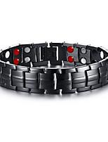 Men's Jewelry Health Care Black Stainless Steel Magnetic Bracelet