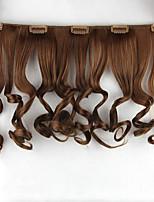 marrón natural de la onda pelucas cordón del pelo humano europa 7027