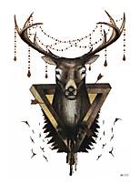 8PCS DIY Women Men Temporary Body Arm Sleeve Art Tattoo Mythical Creatures God Reindeer Tattoo Sticker Design Disposable