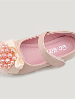 Girls' Shoes Outdoor Comfort / Round Toe Microfibre Flats Pink / Ivory