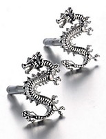 Men's Fashion Dragon Style Silver Alloy French Shirt Cufflinks (1-Pair)