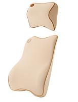 collo poggiatesta auto&cotone memoria set schienale - beige