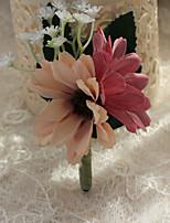 Bouquets de Noiva Forma-Livre Peônias Alfinetes de Lapela Casamento / Festa / noite Azul / Rosa / Vermelho / Beje / Roxo Poliéster