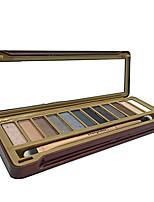 12 Palette de Fard à Paupières Mat / Lueur Fard à paupières palette Poudre Normal Maquillage Quotidien / Maquillage Smoky-Eye