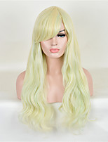 capless longue vague blond cosplay couleur perruque synthétique