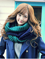 Bicolor Stitching Color Wool knitted Scarves Winter Hedging Scarf