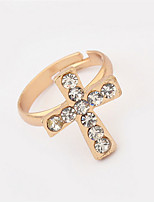 Cross Punk Style Diamond Ring