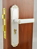 White&Gold Door Lock, Lever Lock, Leverset, Door Lever with 3 Keys