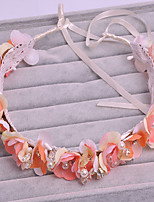 Women's Tulle / Imitation Pearl / Fabric Headpiece-Wedding / Special Occasion / Casual / Outdoor Wreaths 1 Piece