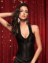 YUIYE® Women Sexy Lingerie Waist Training Corset Set Bustier Shapewear Plus Size Black S-2XL Overbust Corset