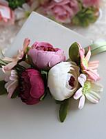 Ramillete de Muñeca(Multicolor,Poliéster / Satén) -Rosas