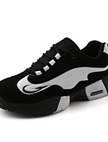 Women's Spring / Summer / Fall Comfort Fleece Athletic Flat Heel Black / Black and White