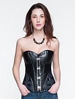 Feminino Plus Size / Sem Busto / Com Busto / Vestido com Corset / Conjunto com Corset De amarrar Nylon / Poliéster / PU Feminino
