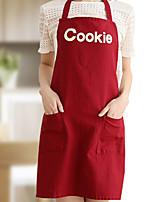 100% coton tabliers cuisine de cuisson avec un style de cookie 2 couleurs (beige rouge)