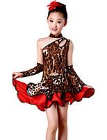 Vestidos(Estampados de Leopardo,Espándex / Poliéster,Danza Latina) -Danza Latina- paraNiños
