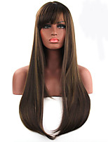 Fashionable Multi-color Long Length Straight Cosplay Synthetic Wigs