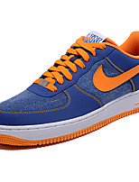 Nike Air Force 1 Men's Shoe Canvas Leather Sneakers Athletic Casual Skate Shoes Blue-Orange