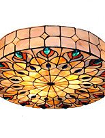 18 inch Retro Tiffany Ceiling Lamp /Shell Shade Flush Mount Living Room Dining Room light Fixture