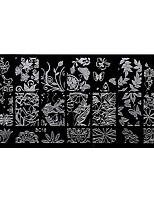 bluezoo retângulo arte do jardim floresta prego stamping (BC-16)