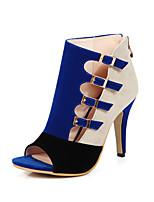 Bureau & Travail Habillé Soirée & Evénement-Noir Bleu Rouge-Talon Aiguille-club de Chaussures-Chaussures à Talons-Laine synthétique