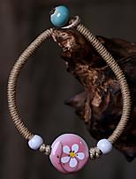 Unisex Chain Bracelet Leather / Rope Non Stone
