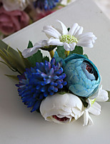 Wedding Flowers Free-form Handmade Roses Wrist Corsages