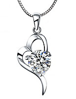 2016 White Crystal Heart Pendant Fashion Heart-shaped Zircon Collar Necklace And Chain Female Model Fine Jewelry
