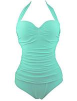 Summer Retro Female's Swimwear Emerald Green