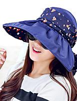 Women Summer Solid Ribbon Floppy Bowknot Middle Brim Foldable Sun Hat