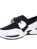 Men's Sneakers Spring / Fall Comfort PU / Tulle Athletic Flat Heel Lace-up Black / Red / Multi-color / Black and White