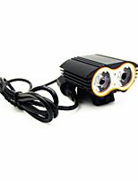 Stirnlampen / Radlichter LED 4.0 Modus 8H Lumen Wasserdicht / Wiederaufladbar / Notfall Cree XM-L T6 Radsport / NaturSchwarzAluminium