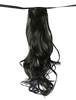 Wig Black 50CM High-Temperature Wire Strap Style Long Hair Ponytail Colour 2