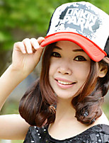 Unisex Cotton Vintage Casual Couples Printing Mesh Truck Baseball Hat