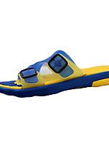 Черный / Синий / Коричневый / Желтый / Красный-Мужской-На каждый день-Силикон-На плоской подошве-Удобная обувь-Тапочки и Шлепанцы