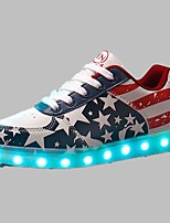 Men's Shoes Outdoor / Athletic / Casual PU Fashion Sneakers Red / NavyLED shoes