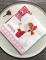 Serviette de déjeuner / Serviette de dîner(Blanc,100% pulpe vierge) -Non personnalisée