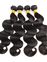 4PC/Lot Brazilian Remy Human Hair Extensions Body Wave 100% Virgin Human Hair Weave Natual Black 400g
