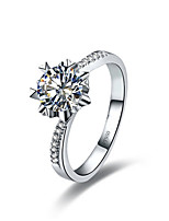 0.5CT Semi Mount Snowflake Twist SONA Diamond Engagement Ring for Women Sterling Silver in Platinum Plated Pt950 Stamped