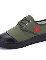 Men's Shoes Casual Fabric Fashion Sneakers Green / Multi-color