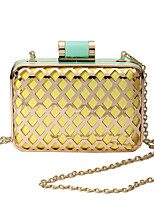 L.WEST Women's The Hollow Metal Mesh Color Matching Evening Bag